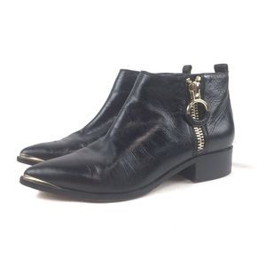1. STATE Women's Black Leather Ankle Booties 7M